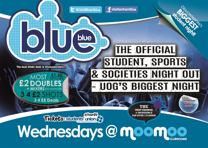 Blue and Blue | Gloucestershire's biggest student night