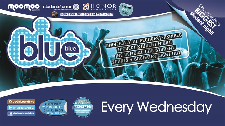 Blue & Blue | Gloucestershire's biggest student night!!